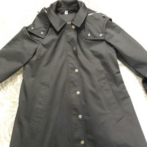 Burberry Brit Black Raincoat with lining, Size US